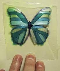 Resultado de imagen para mariposas en cuerda seca