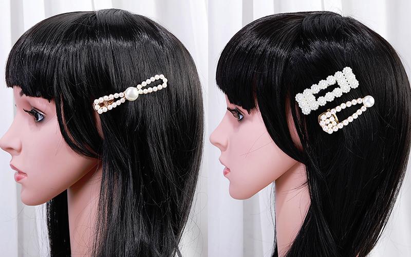 Colorful pearl hair brace hair clip beads hair clip