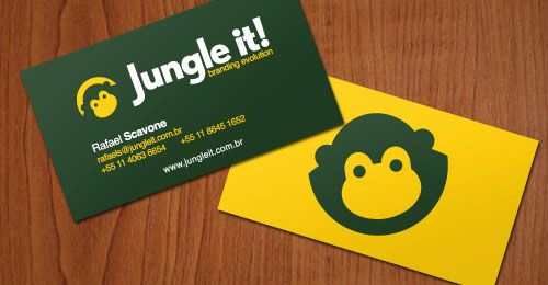 60 most beautiful and creative business cards design business monkey business card reheart Gallery
