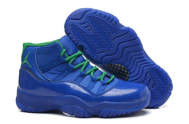 440292c5eb2 Girls Air Jordan 11 Retro GS Blue Green Online For Sale Womens Size Women  Air