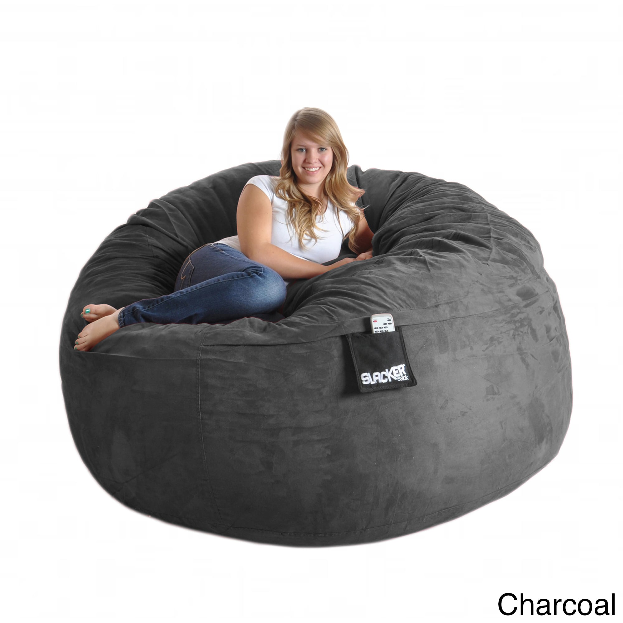 Super Slacker Sack Round 6 Foot Microsuede And Foam Bean Bag Onthecornerstone Fun Painted Chair Ideas Images Onthecornerstoneorg