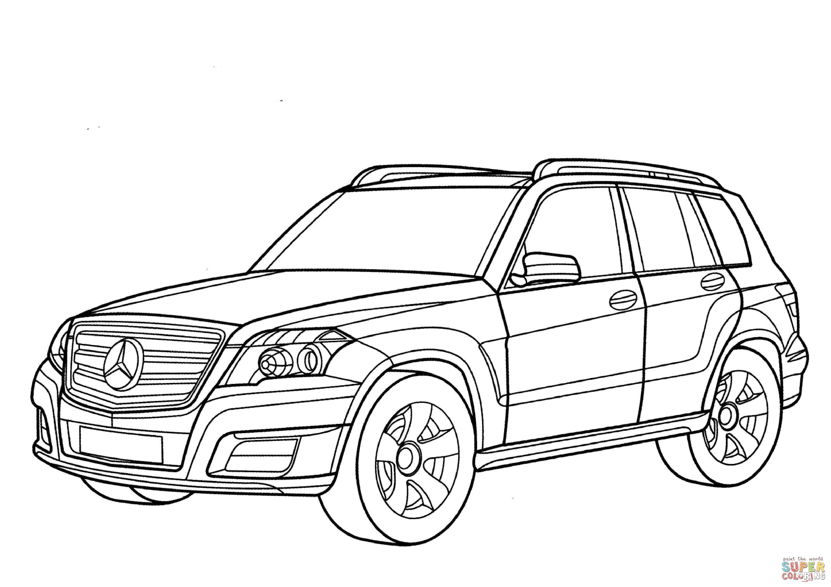 Mercedes Glk Class Coloring Page Free Printable Coloring Pages