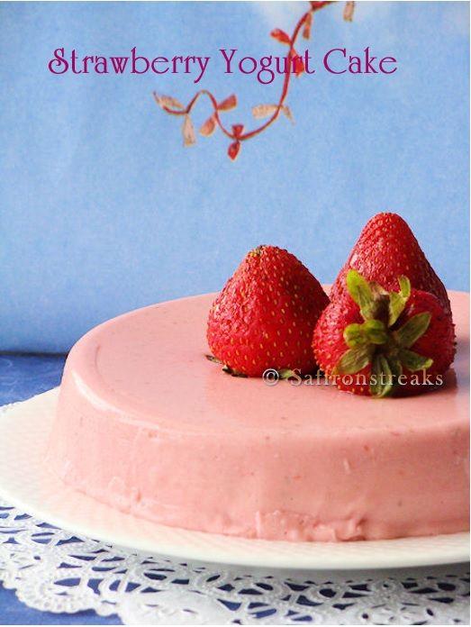Strawberry yogurt cake ? no bake chilled summer dessert