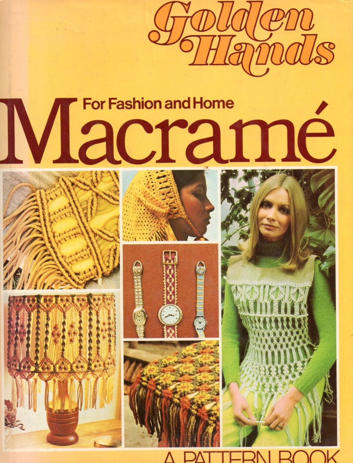 Golden Hands Macrame for Home and Fashion Very Retro with 50 Patterns Instant Download PDF EBook - pinned by pin4etsy.com