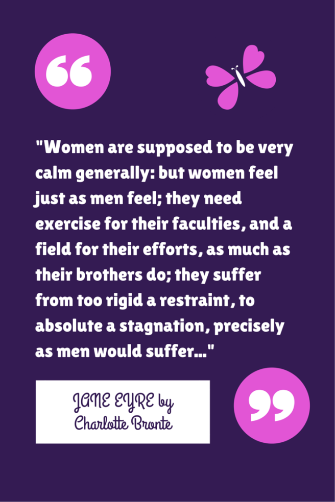 QUOTE: Jane Eyre on women and their roles in society (BLOG POST @ Nut Free Nerd)