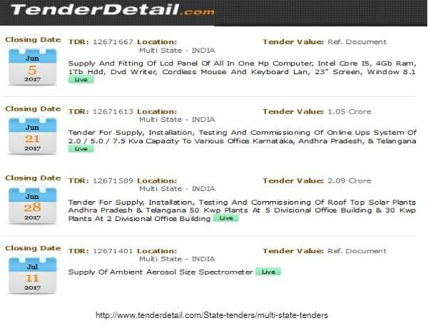 Get Complete Information Related To Multi State Tenders At Tenderdetail Com Find The Best Available Tenders From Multi State Tenders State Government States
