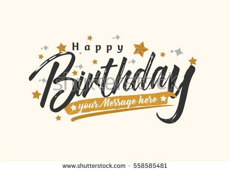 Happy Birthday Typographic Vector Design For Greeting Card
