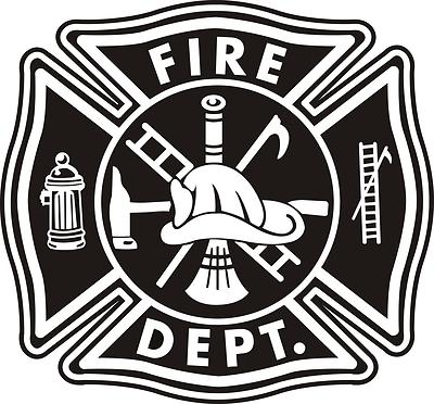 Firefighter Maltese Cross Vector Art fire department