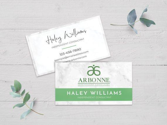 Arbonne Business Card Template Editable Arbonne Marketing Card Green Arbonne Business Card In Arbonne Business Cards Arbonne Business Business Card Template