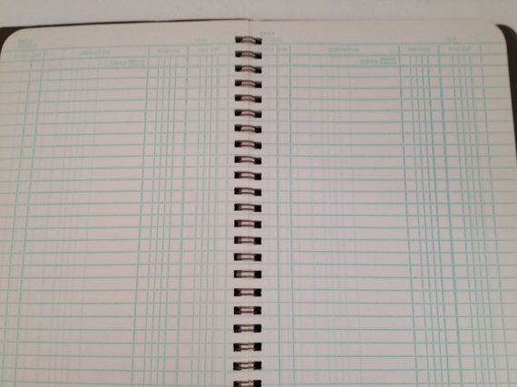 vintage ledger book herald square budget book accounting vintage