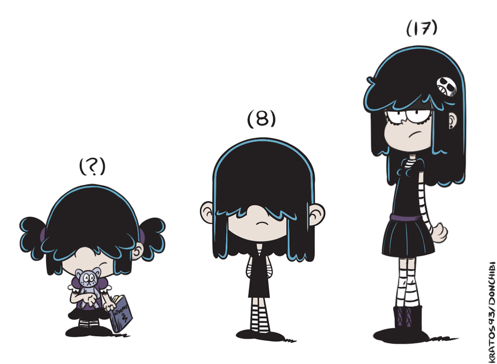 lucy ages doodle by kratos93 on deviantart the loud house