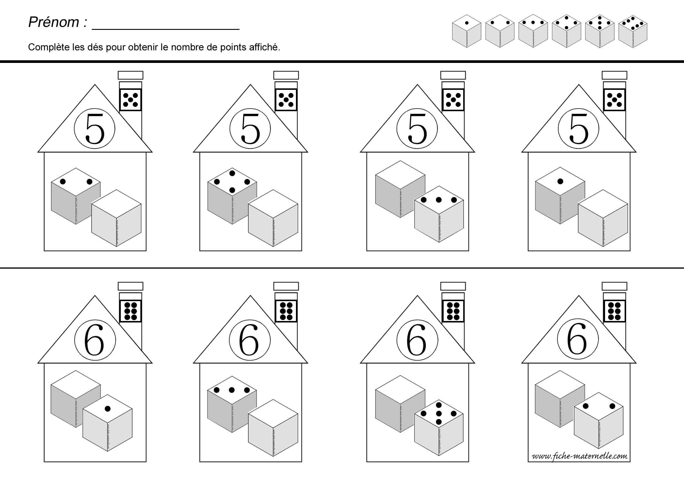 Décomposition du nombre en maternelle et CP | Maternelle | Pinterest ...