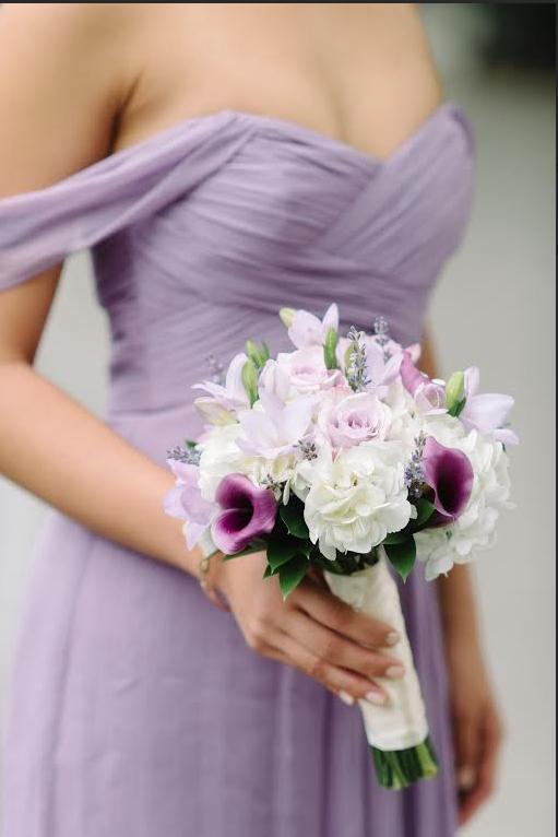 Amsale Bridesmaids Style G851c In Color Violet Weddinglibrary