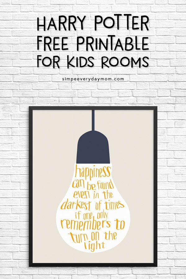 An AWESOME & FREE Harry Potter Quote Printable That You Need Right ...