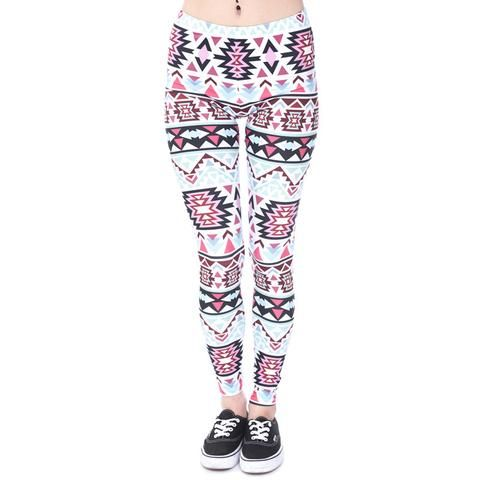 Women Aztec Fashion Legging  This women aztec legging is made of spandex and polyester material. Its fabric type is knitted and pattern type is print.