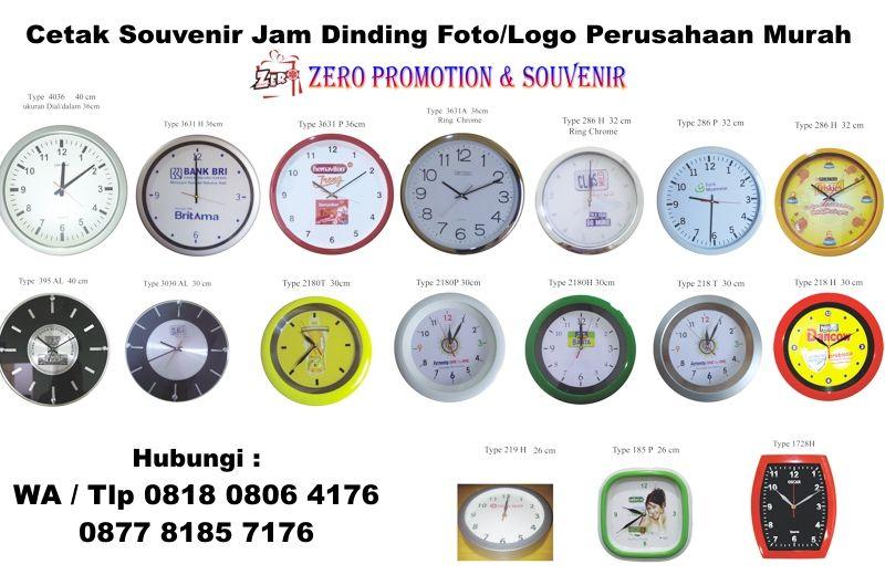 Cetak Souvenir Jam Dinding Foto Logo Perusahaan Murah  e75950c131
