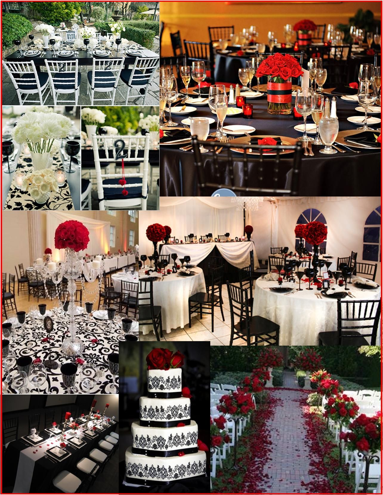 Wedding decoration ideas red and white  black and red wedding ideas  Red and Turquoise  Boda  Pinterest