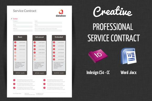 Professional Service Contract  Professional Services Stationery