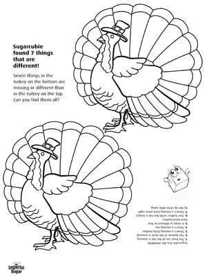 Find the Differences in the Turkeys Thanksgiving Activity