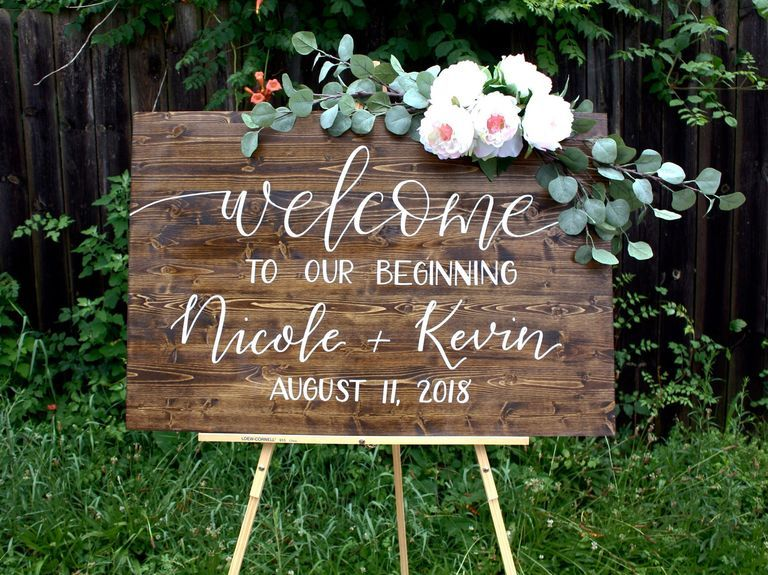 19 Unique Wedding Signs for Every Style and Budget #weddingwelcomesign