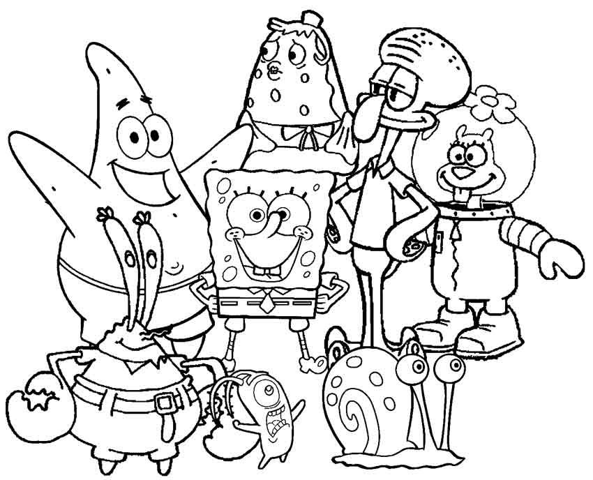 SpongeBob coloring sheets to the kidu0027s next birthday celebration is - best of spongebob underwater coloring pages