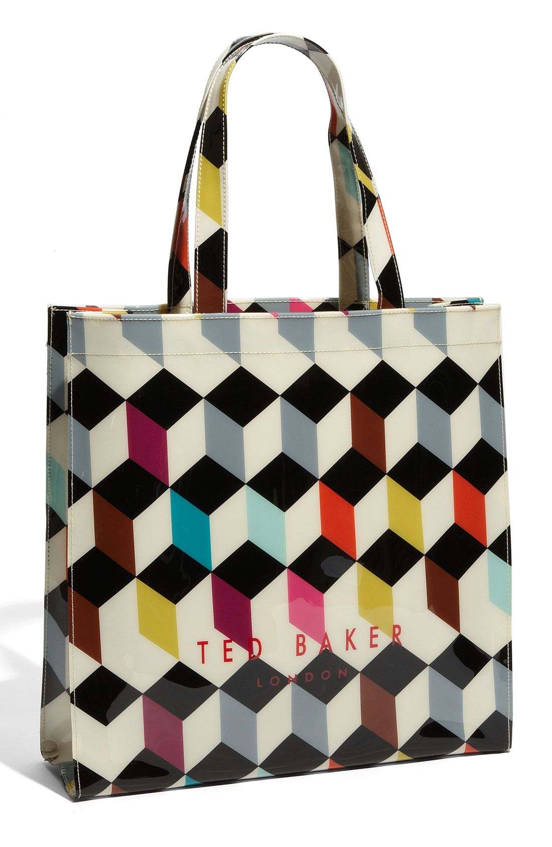 8c6a03854d5 Ted Baker Printed Ikon Tote in Multicolor (cube print) | Lyst ...