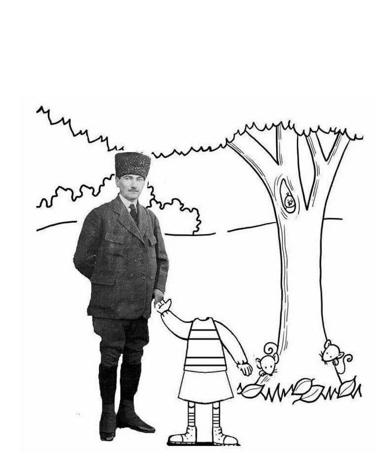Benn Adli Kullanicinin Ataturk Panosundaki Pin Boyama Sayfalari Okul Faaliyetler