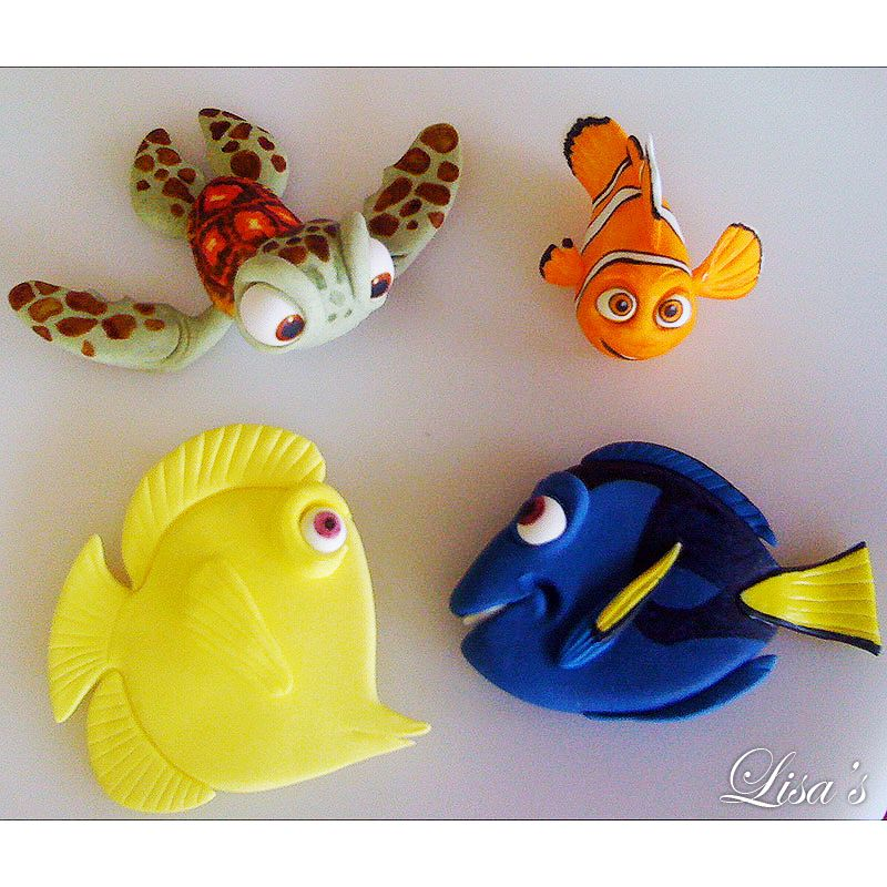 Disney Fish Turtle Seagulls Dory Squirt Dress It Up Craft Buttons FINDING NEMO