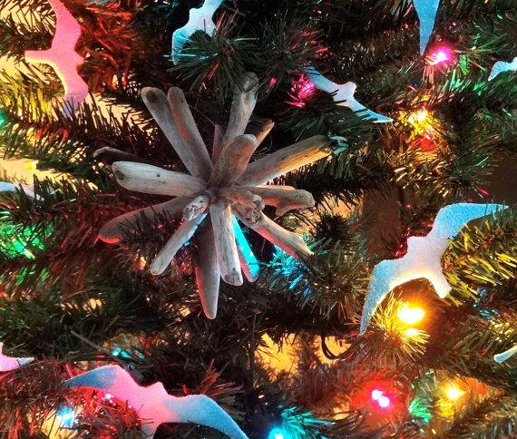 Driftwood, Christmas Ornament, Ornaments, Christmas, Christmas Tree, Seagull, Bird, Beach Decor, Star