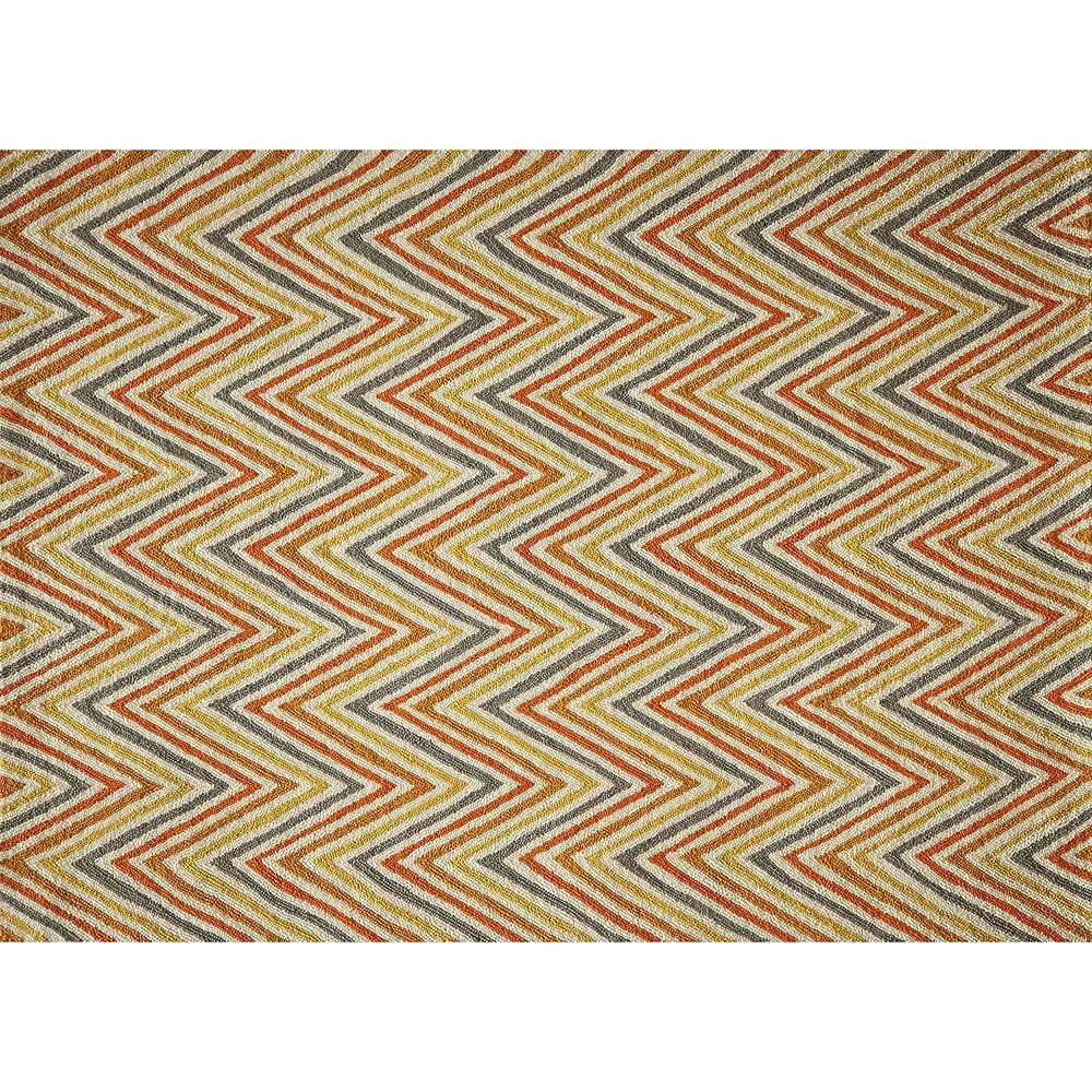 Momeni Geo Chevron Rug, Lt Orange