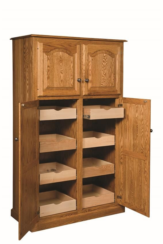 Amish Lux Traditional 4 Door Pantry Kitchen Pantry In 2019