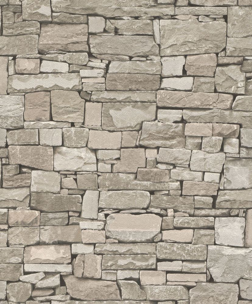 Details about REALISTIC GREY DRY STONE BRICK WALL EFFECT FEATURE