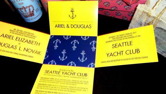 Anchor PerfectFold Wedding Invitation Nautical by Anticipation **9