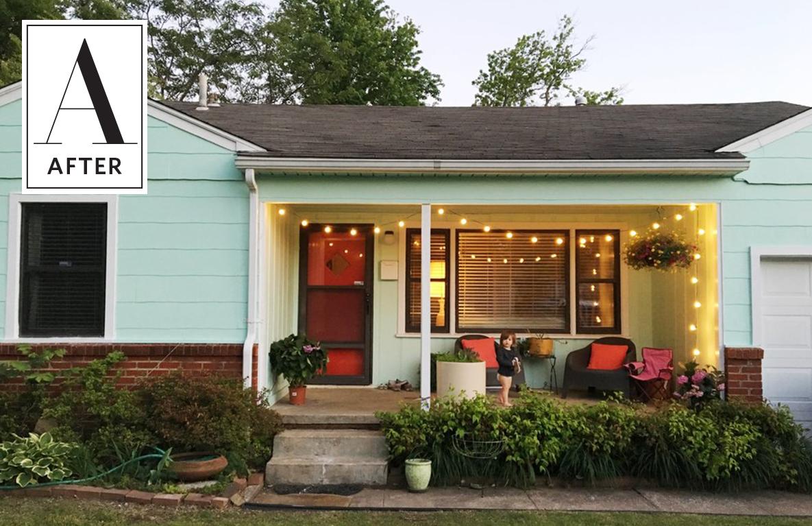 Mitte Des Jahrhunderts Moderne Häuser Before U After A Little House Boldly  Goes Seafoam Green