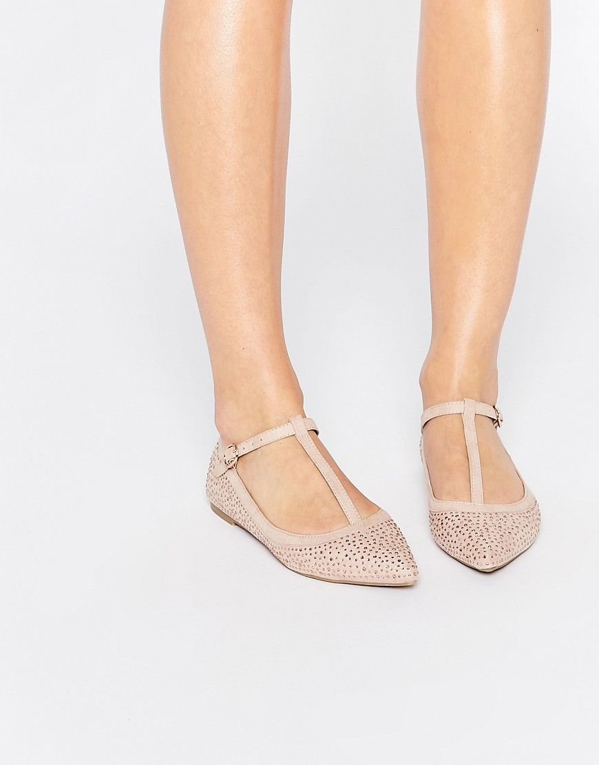e27842c00d4a Oasis T Bar Point Sparkle Flat Shoe