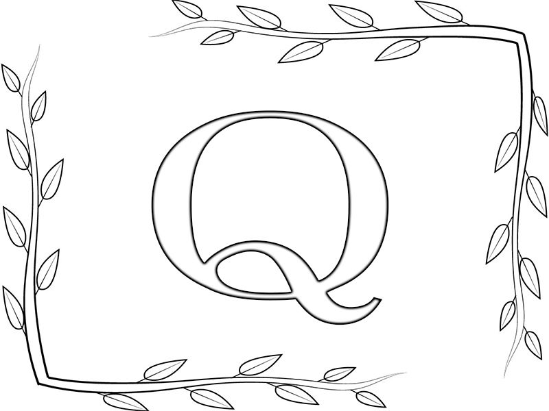 Printable Letter Q Coloring Pages Coloring Pages Free Coloring Pages Printable Alphabet Letters