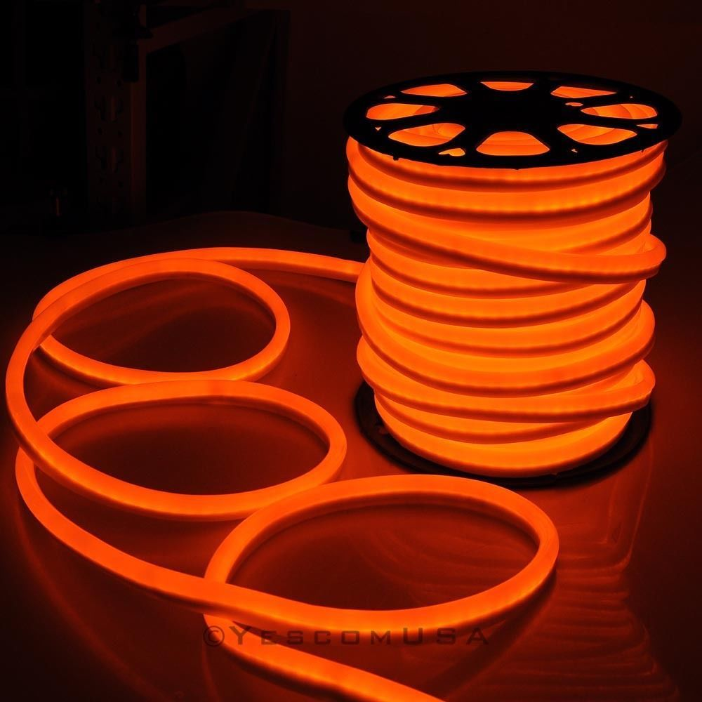 150ft led neon rope light holiday decoration party inoutdoor 150ft led neon rope light holiday decoration party in outdoor flex orange 110v mozeypictures Images