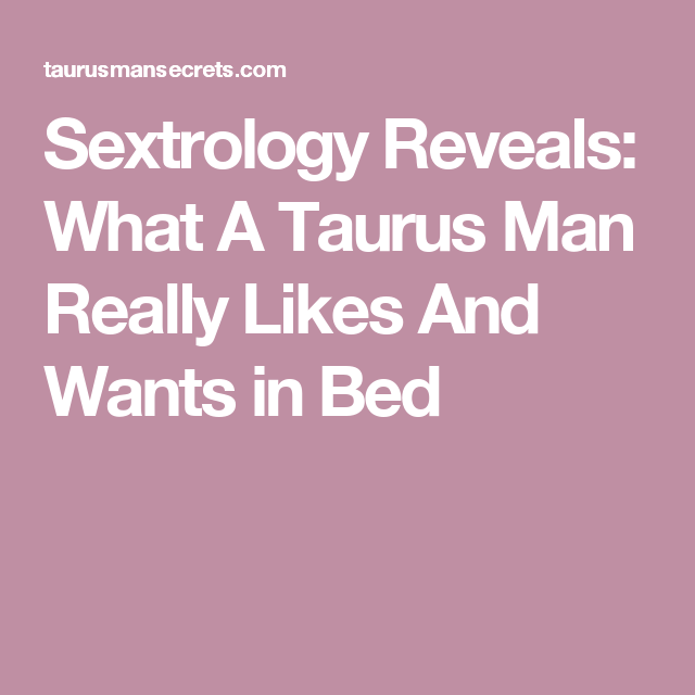 Scorpio and taurus sextrology