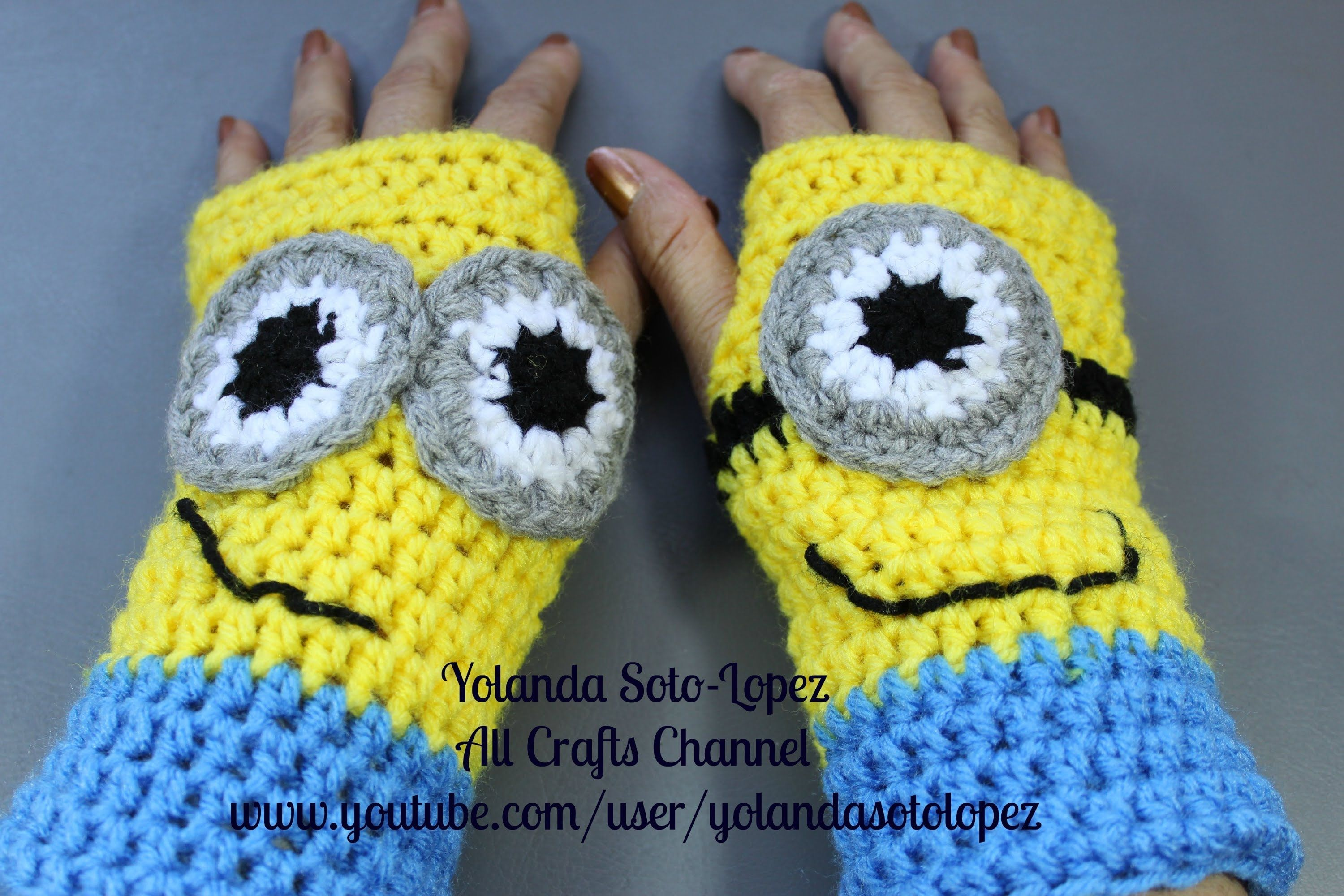 Crochet wristers fingerless gloves inspired by despicable me crochet wristers fingerless gloves inspired by despicable me minions dt1010fo