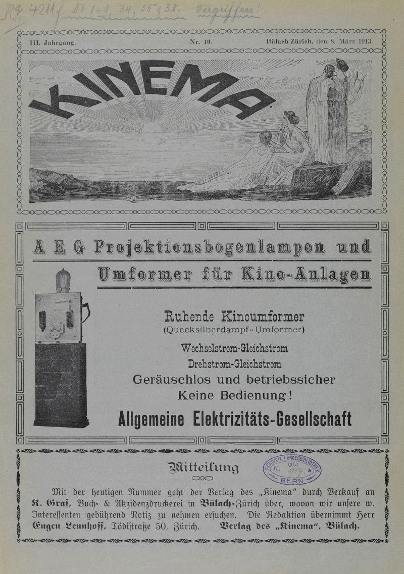 Ikea Bogenle kinema 1913 cover