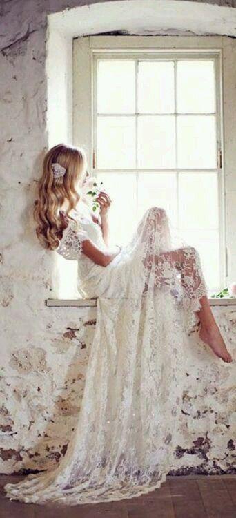 Long White Weeding Dress, Bride, Braut, Mlada, Vencanica, Haljina ...