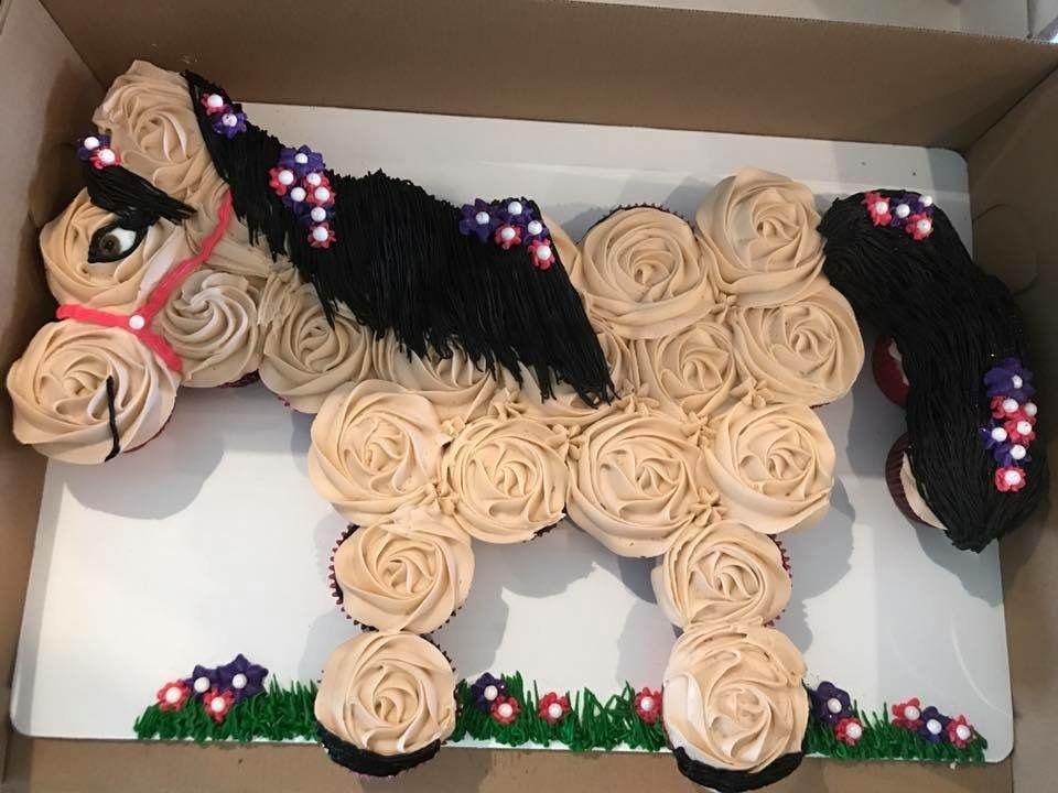 Horse Cupcake Cake My Cakes In 2019 Birthday Cakes