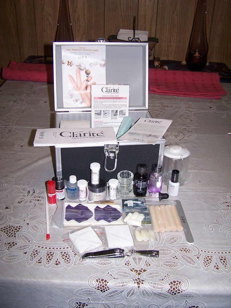 Brand New Clarite By Opi Acrylic Nail Kit With Case Loaded Plus Instructions Nail Kit Acrylic Nail Kit Acrylic Nails