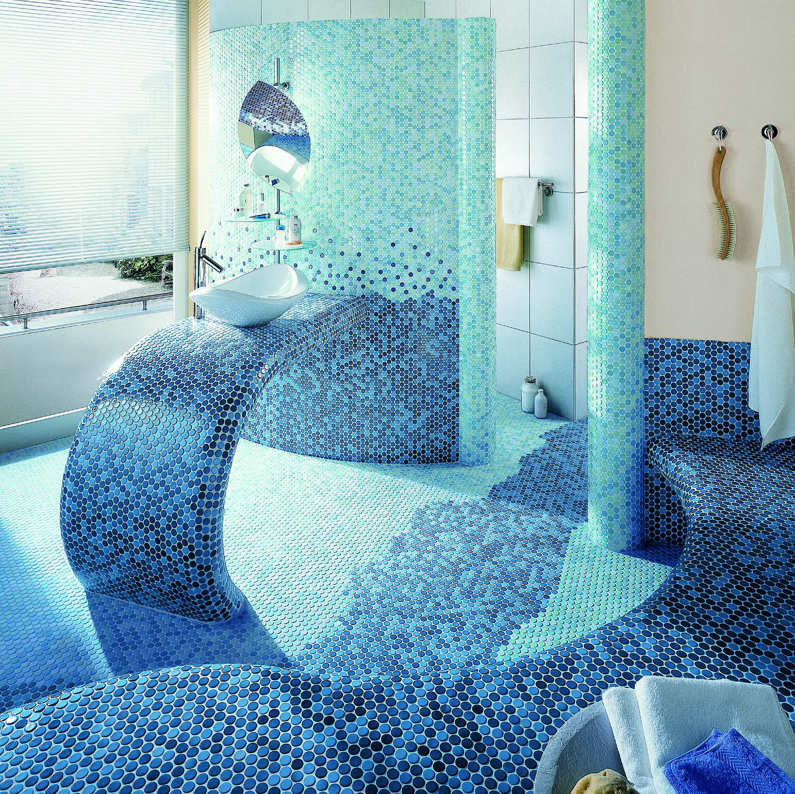 Centino Penny Round Mosaics. Available in 24 different colors and ...
