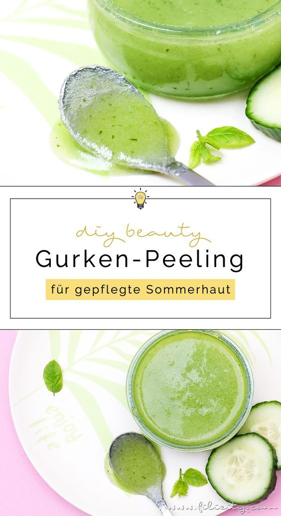 Photo of DIY cucumber peeling – mix natural skin care yourself Filizity.com | Beauty & DIY blog from the Rhineland