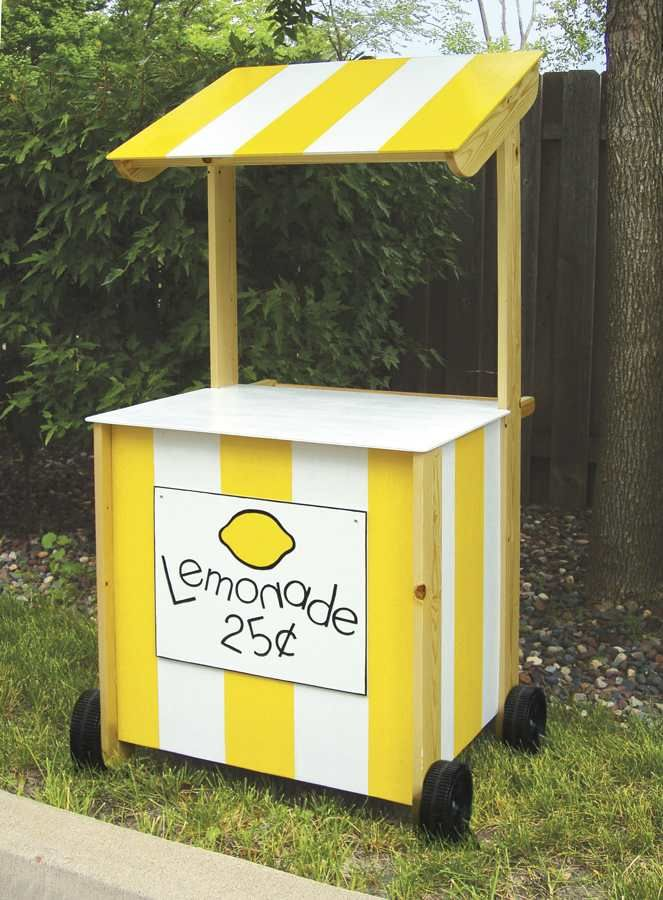 Lemonade stand woodworking plan stand decorating ideas for How to build a lemonade stand on wheels