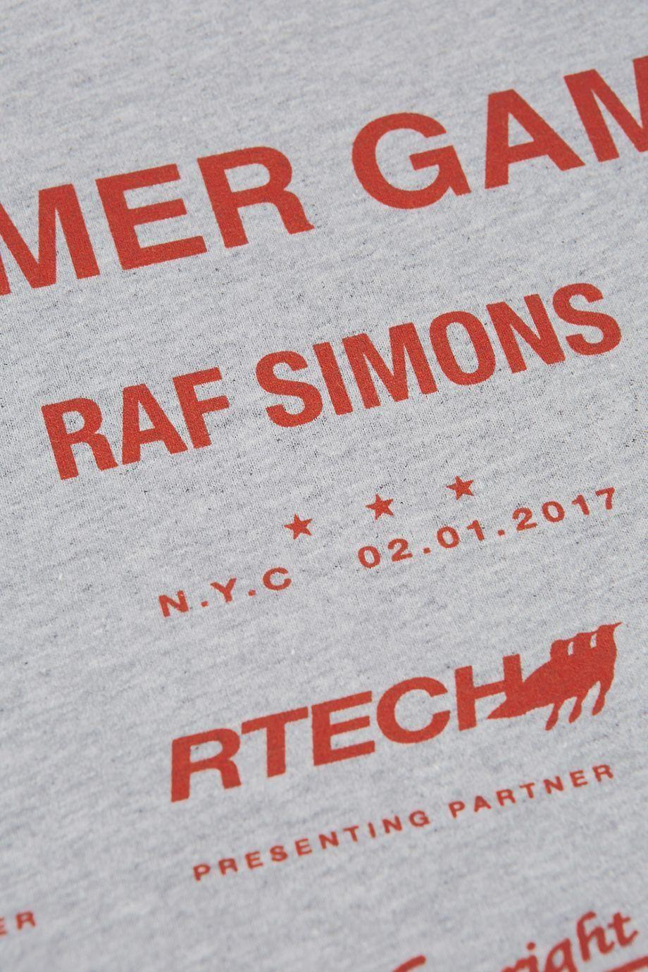 96e9dd244e88 RAF SIMONS Summer Games Cotton T-Shirt.  rafsimons  cloth