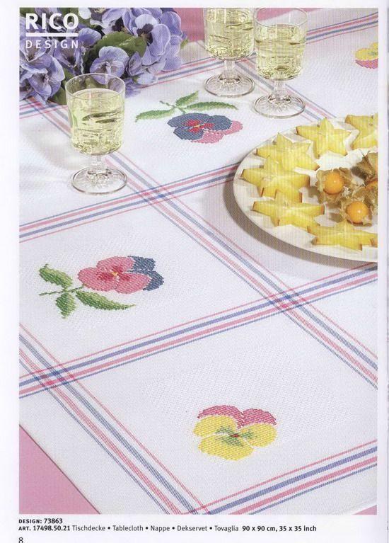 Ricami e schemi a Punto Croce gratuiti: Schemi a punto croce per la cucina- cross stich flowers