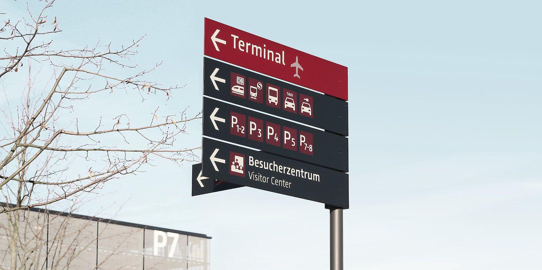 Wayfinding www.moniteurs.de Berlin - Brandenburg Flughafen