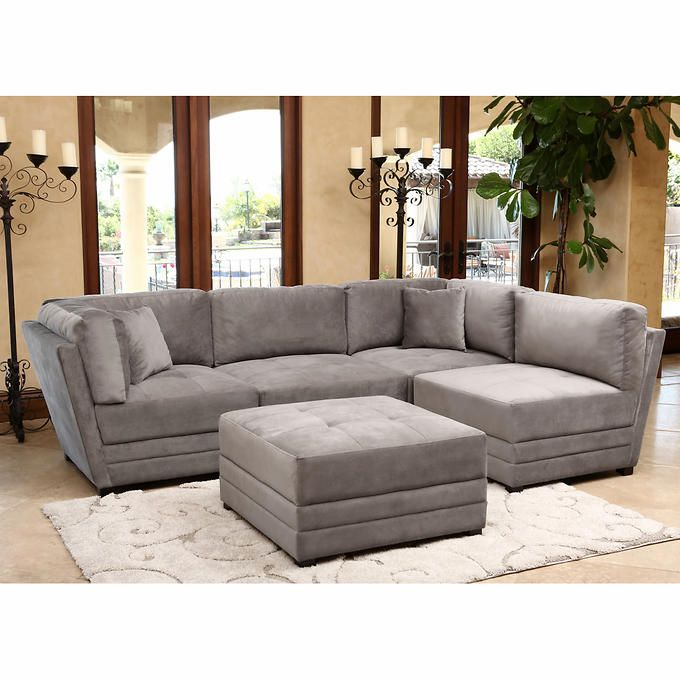 Leyla 5 Piece Fabric Modular Sectional Living Room Set Blue: $1700. Leyla 5-piece Fabric Modular Sectional